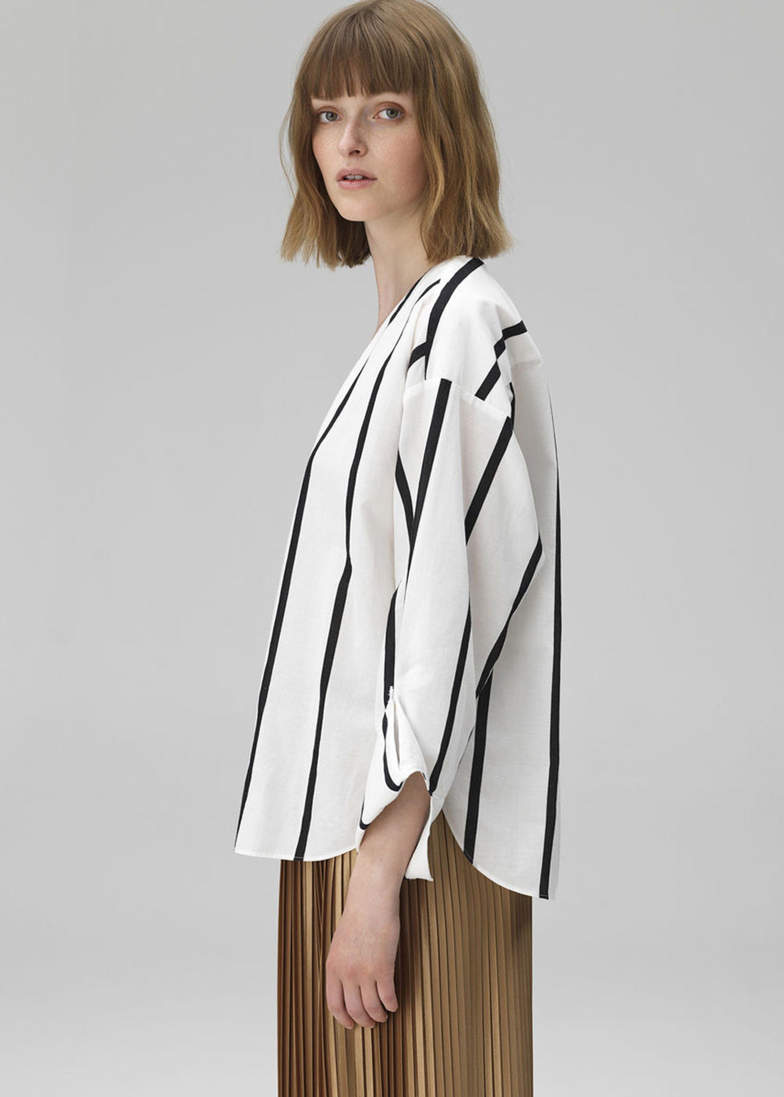 766afbff302 ... By Malene Birger - Bluse - Bobinoh - Black/White Stripe
