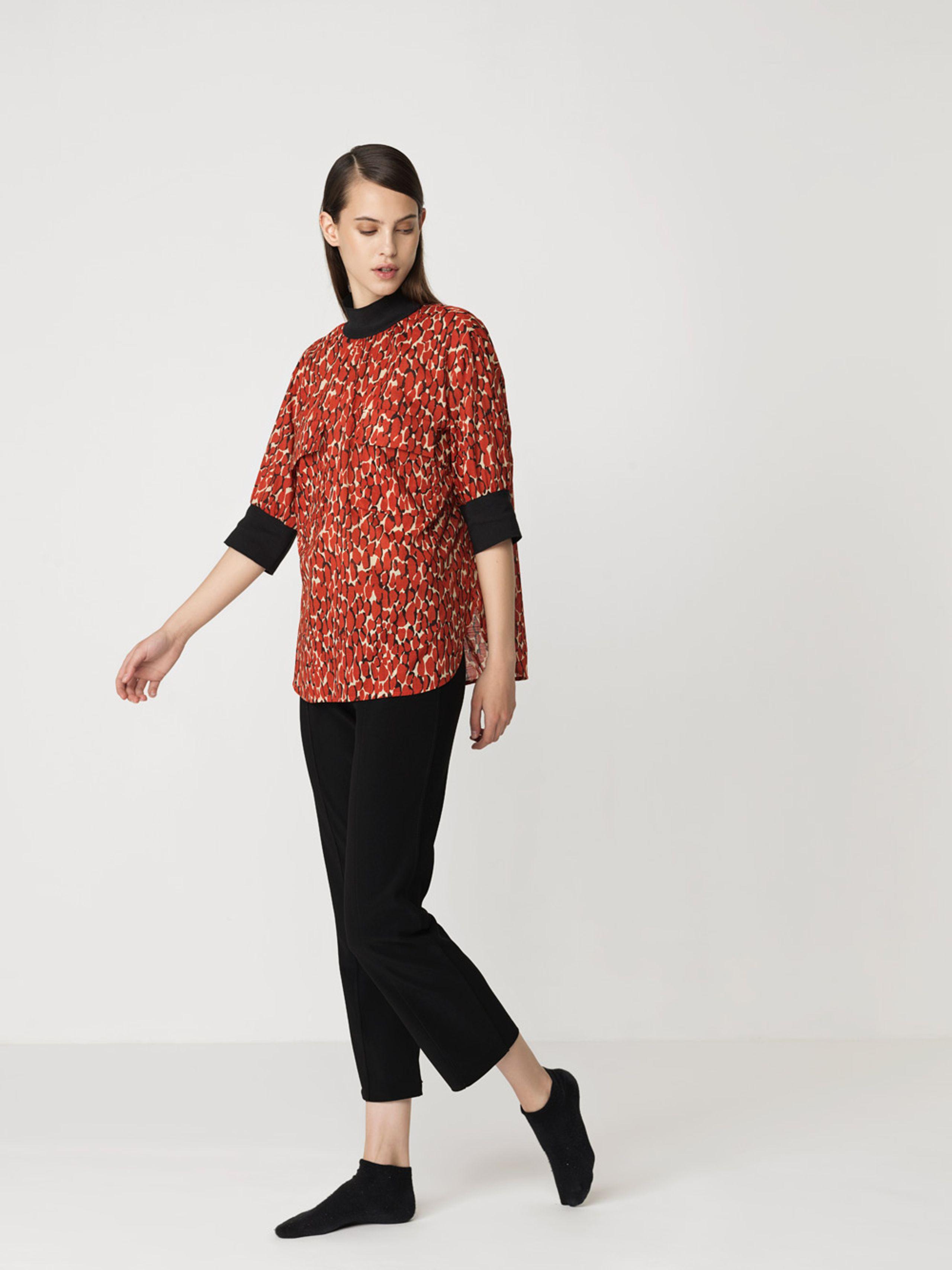 95f14a2f2ef ... By Malene Birger - T-shirt - Cobolias - Autumn Red