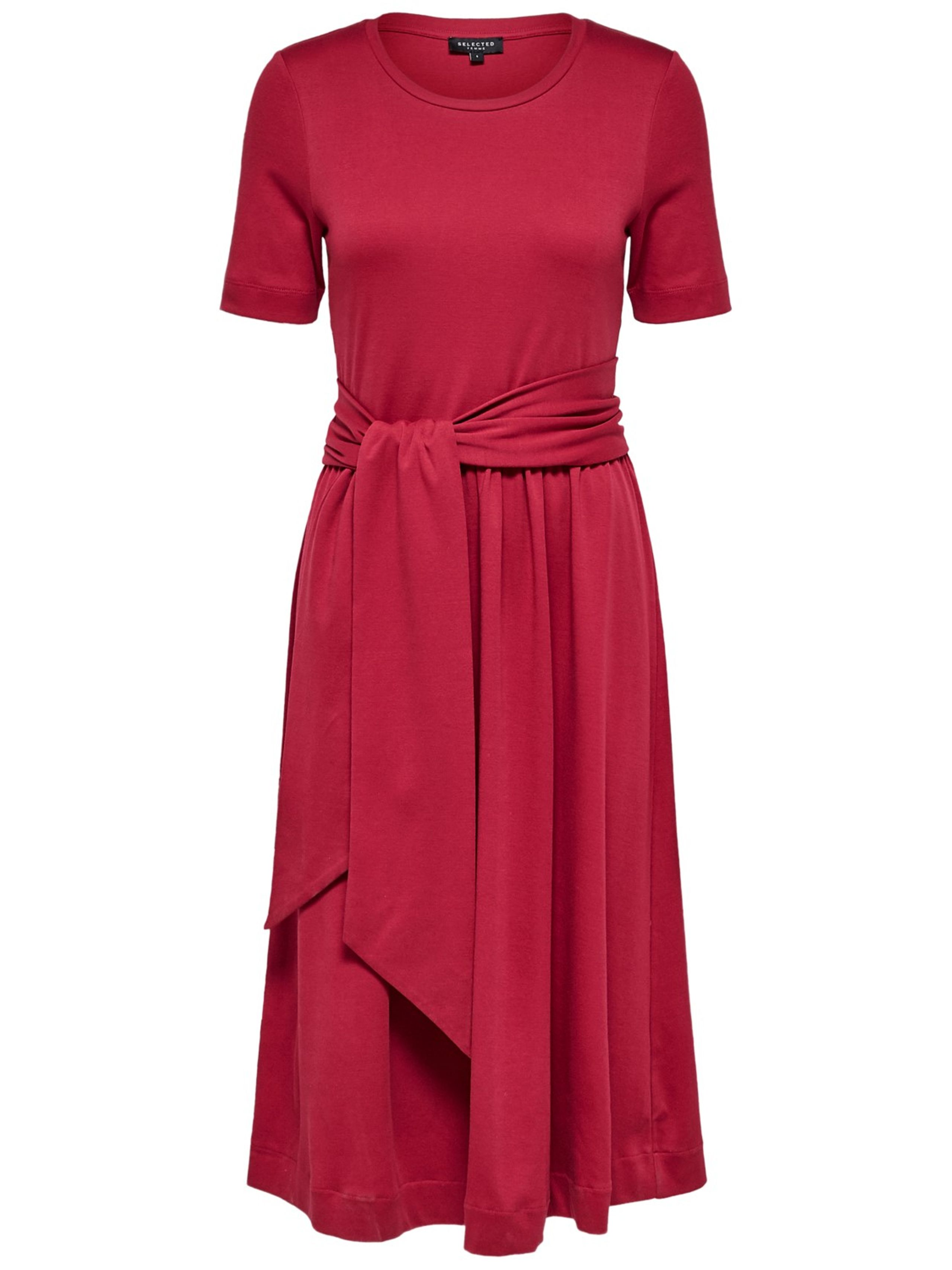 dca33006ddde Selected Femme - Kjole - Abina Jersey Dress - Beet Red ...
