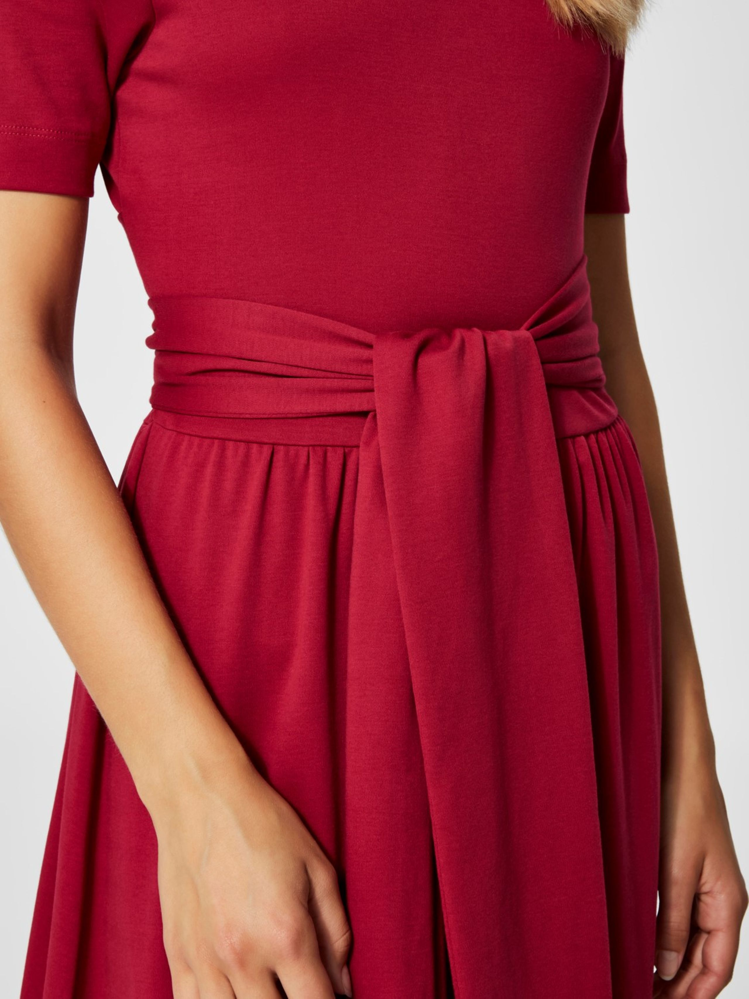 32b751df2b30 ... Selected Femme - Kjole - Abina Jersey Dress - Beet Red