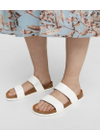Bianco - Sandals - Betricia Twin Strap Sandals - White Lacquer
