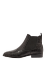 Bianco - Stövlar - Classic Leather Chelsea - Black Croco Leather