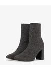 Bianco - Boots - Knit Boot - Black/Silver lurex