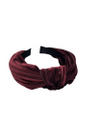 Bow's By Stær - Hair Band - By Stær Headband - Velvet Stripe Burgundy