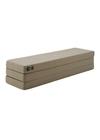 By KlipKlap - Mattress - KK 3 fold w. buttons (180 cm) - Warm grey w. light peach buttons XL