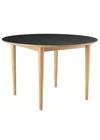 FDB Møbler / Furniture - Dining Table - C62E Bjørk by Unit10 - Oak Nature / Black Linoleum