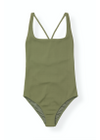 Ganni - Baddräkt - Textured Swimwear A1831 - Avocado