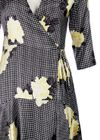Ganni - Dress - Calla Silk - Black/Yellow Pattern