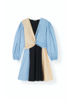 Ganni - Dress - Light Stretch Cotton Mini Dress - Block Colour