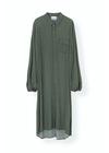 Ganni - Kjole - Printed Crepe Long Dress F4048 - Tiger's Eye
