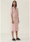 Ganni - Dress - Printed Crepe Wrap Dress F3335 - Egret