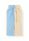 Ganni - Skirt - Light Stretch Cotton Skirt - Block Colour