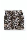 Ganni - Skirt - Print Denim Skirt F3710 - Leopard