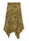 Ganni - Skirt - Printed Crepe Skirt F3186 - Black