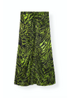 Ganni - Skirt - Silk Stretch Satin Skirt F3654 - Lime Tiger