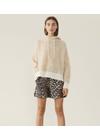 Ganni - Shorts - Silk Linen Shorts F3159 - Leopard