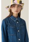Ganni - Shirt - Blue Soft Denim Shirt Dress - Medium Blue Denim