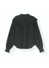 Ganni - Shirt - Light Seersucker Shirt F3544 - Black
