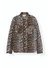 Ganni - Shirt - Print Denim Utility Shirt F3720 - Leopard