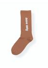 Ganni - Strømper - Print Socks A1591 - Caramel Cafe