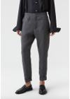 HOPE - Pants - Law Trouser Linen SS19 - Grey/Black Lines