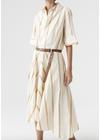 HOPE - Dress - Clock Dress - Beige Stripe