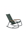 HOUE - Rocking chair - CLIPS Rocking Chair Bamboo Armrest - Black/Pine Green