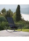 HOUE - Rocking chair - CLIPS Rocking Chair Bamboo Armrest - Black/Midnightblue