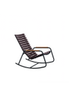 HOUE - Rocking chair - CLIPS Rocking Chair Bamboo Armrest - Black/Plum