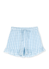 JUNA - Shorts - Bæk&Bølge Sola Shorts - Light blue/White