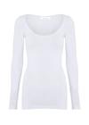 Mos Mosh - Bluse - Sik Solid - White