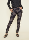 Mos Mosh - Jeans - Naomi Shine Printed Pants - Black