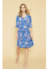 Mos Mosh - Dress - Meru Vita Dress - Ultramarine Print