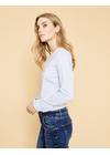 Mos Mosh - Shirt - Mattie Stripe Shirt - Light Blue Stripe
