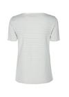 Mos Mosh - T-shirt - Kenia Glam Stripe V-neck - Sky Blue