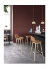 Muuto - Skammel - Fiber Bar Stool - Wood Base - Støvet Grøn