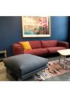 Muuto - Sofa - Muuto Rest sofa med puf (Udstillingsmodel) - Steelcut Trio/Mørkerød - Grå