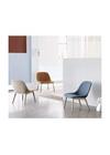 Muuto - Stol - Fiber Lounge Chair - Wood Base - Steelcut Trio 236 - Eg
