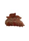 Plissé Copenhagen - Hair Clip - Kamma Vintage Hairclip - Rust Red