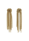 Plissé Copenhagen - Øreringe - Big Knit Earring - Gold