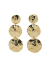 Plissé Copenhagen - Wiper - Hammered Triple Earring - Gold