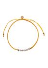 Stine A - Bracelet - Candy Bracelet - Purple Mix and Yellow Ribbon