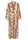 Stine Goya - Kjole - Nat Silk Kimono - Floral Wallpaper