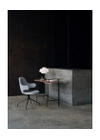&tradition - Skrivebord - Palette Table / JH9 - JH9 - Black Stained Ash Veneer / Nero Marquina Marble