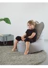 X-POUF - 1 - X Kids Chair PU Coated - LoungeChair Mørkegrå
