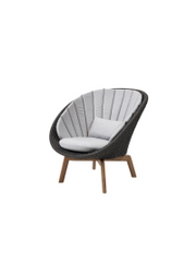 Frame: Cane-line Soft Rope, Dark Grey / Cushion: Cane-line Natté, Light Grey
