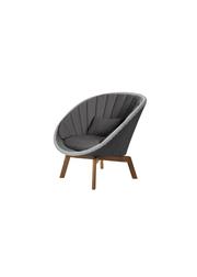 Frame: Cane-line Weave, Grey/Light Grey / Cushion: Selected PP, Dark Grey