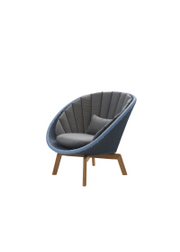 Frame: Cane-line Weave, Midnight/Dusty Blue / Cushion: Cane-line Natté, Grey w/QuickDry Foam