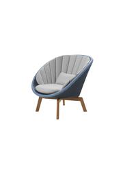 Frame: Cane-line Weave, Midnight/Dusty Blue / Cushion: Cane-line Natté, Light Grey