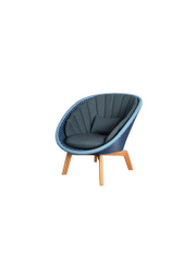 Frame: Cane-line Weave, Midnight/Dusty Blue / Cushion: Selected PP, Dark Blue